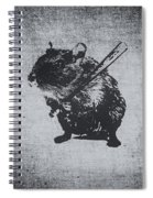 Angry Street Art Mouse  Hamster Baseball Edit  Spiral Notebook