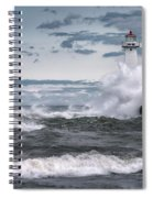 Angry Waters Of Lake Ontario Spiral Notebook