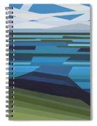 Angular Lake Spiral Notebook