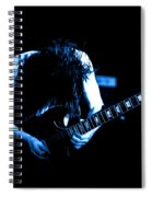 Angus Young On Guitar Spiral Notebook
