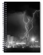 Anheuser-busch On Strikes Black And White Spiral Notebook