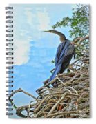 Anhinga In The Clouds Spiral Notebook