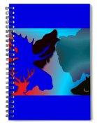 Animal Collage  -011 Spiral Notebook