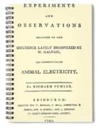Animal Electricity, Title Page Spiral Notebook