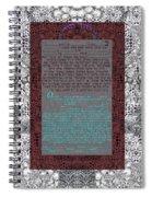 Animal  Ketubah- Reformed And Interfaith Version Spiral Notebook