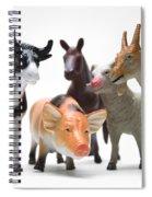 Animals Figurines Spiral Notebook