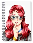 Anime Girl Spiral Notebook