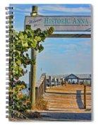 Anna Maria City Pier Landmark Spiral Notebook