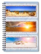 Anna Maria Island Beach Collage Spiral Notebook