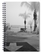Anna Maria Island Branch Library In Fog Infrared 50 Spiral Notebook