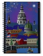 Annapolis Holiday Spiral Notebook