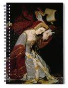 Anne Boleyn In The Tower Spiral Notebook