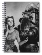 Anne Francis Movie Photo Forbidden Planet With Robby The Robot Spiral Notebook
