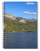 Annecy Lake Panorama Spiral Notebook
