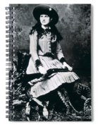 Annie Oakley  Star Of Buffalo Bill's Wild West Show Spiral Notebook