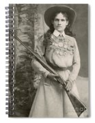 Annie Oakley With A Rifle, 1899 Spiral Notebook