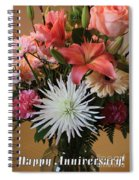 Anniversary Card Spiral Notebook