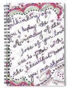 Anniversary Memorial Spiral Notebook