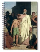Annointing Of David By Saul Spiral Notebook