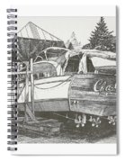 Annual Haul Out Chris Craft Yacht Spiral Notebook