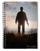Anonymous Man In Silhouette Holding A Gun Spiral Notebook