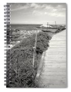 Another Asilomar Beach Boardwalk Black And White Spiral Notebook