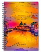 Another Surreal Venice Sunset Spiral Notebook
