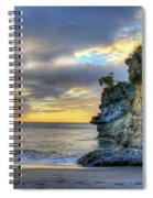 Anse Mamin Rock Formation At Sunset Saint Lucia Caribbean Sunset Spiral Notebook