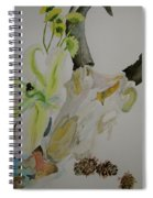 Antelope Skull Pinecones And Lily Spiral Notebook