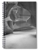 Antelope Slot Canyon Black And White Spiral Notebook