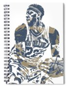 Anthony Davis New Orleans Pelicans Pixel Art 21 Spiral Notebook