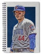 Anthony Rizzo Chicago Cubs 3 Spiral Notebook