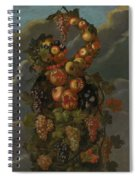 Anthropomorphic Allegory Of Autumn Spiral Notebook