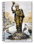 Anti-immigration Cartoon Spiral Notebook