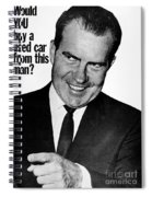 Anti-nixon Poster, 1960 - To License For Professional Use Visit Granger.com Spiral Notebook