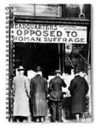 Anti-suffrage Association Spiral Notebook