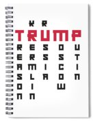 Anti Trump Art Impeach President Resist Putin Light Spiral Notebook