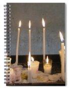 Antigua Church Candles Spiral Notebook