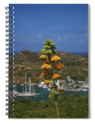 Antigua National Flower  Spiral Notebook