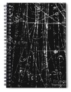 Antiproton Display, Bubble Chamber Event Spiral Notebook