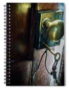 Antique Brass Doorknob Spiral Notebook