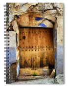 Antique Brown Door Spiral Notebook