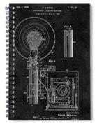 Antique Camera Flash Patent Spiral Notebook