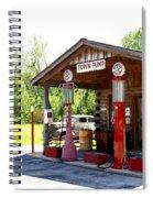 Antique Car And Filling Station 2 Spiral Notebook
