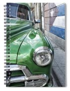 Antique Car And Mural 2 Spiral Notebook