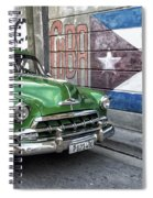 Antique Car And Mural Spiral Notebook