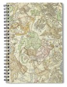 Antique Celestial Map Spiral Notebook