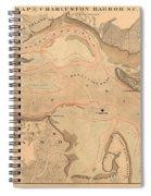Antique Charleston Harbor Spiral Notebook