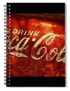 Antique Coca-cola Cooler II Spiral Notebook
