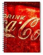Antique Coca-cola Cooler Spiral Notebook